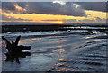 SS9567 : Sunset on a receding tide - Llantwit Major : Week 47