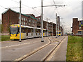 SJ8497 : Trams on Baird Street by David Dixon