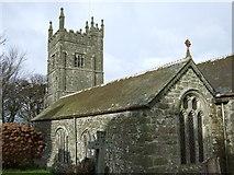 SW5937 : St Gwinear church by Dave Kelly