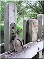 SP1258 : Watermill Sluice Gate Lock Mechanism by Nigel Mykura
