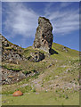 NG5846 : Rock formation at Brochel by Iain A Robertson