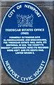 Photo of Tredegar Estates Office blue plaque