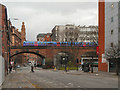 SJ8497 : Railway Viaduct over Princess Street (A34) by David Dixon