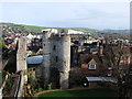 TQ4110 : Norman Gatehouse and The Barbican, Lewes Castle by PAUL FARMER