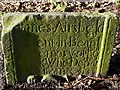 NU0121 : Gravestone, St Michael's Church, Ilderton by Andrew Curtis