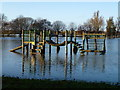 TL2470 : Flooded play area in Godmanchester, Cambridgeshire by Richard Humphrey