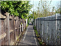 TQ5686 : Path by the railway, Upminster by Robin Webster