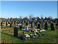 TQ6478 : St Mary's Cemetery, Chadwell St Mary by David Anstiss