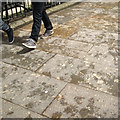 SX9192 : Brown granite flagstones, Queen Street by Robin Stott