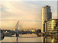 SJ8097 : MediaCityUK Footbridge by David Dixon
