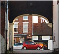 SK7953 : Castlegate from Swan &amp; Salmon Yard by Richard Croft