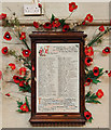 TQ2176 : St Michael & All Angels, Barnes - War memorial by John Salmon