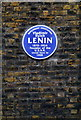 TQ3082 : Lenin Blue Plaque at 36 Tavistock Place by PAUL FARMER