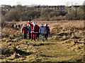SD7506 : Santa Ramble, Nob End Nature Reserve by David Dixon