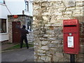 SE5626 : West Haddlesey: the post office and postbox № YO8 39 by Chris Downer