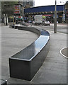 TQ3180 : Sinuous shiny seat by Waterloo Road, SE1 by Robin Stott