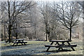 SP9313 : Deserted Picnic Benches by the Canal at Bulbourne, Near Tring by Chris Reynolds