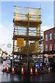 SO8932 : Tewkesbury Cross under scaffolding by Philip Halling