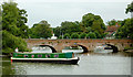 SP2054 : River Avon at Stratford-upon-Avon, Warwickshire by Roger  Kidd