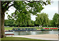SP2054 : River moorings at Stratford-upon-Avon by Roger  Kidd