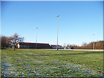 NS7162 : Football pitches and changing rooms on Laburnum Road, Viewpark by Elliott Simpson
