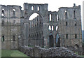 SE5785 : Rievaulx Abbey, looking down the nave from the west front by Christopher Hilton