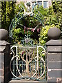 SJ9856 : Gate detail of Greystones House by Heather Beaver