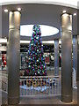 SO8454 : Christmas tree in the Crowngate Shopping Centre by Philip Halling