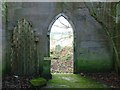 NT9250 : The entrance doorway to Fishwick Mortuary Chapel by Walter Baxter