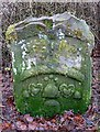 NT9250 : A symbolic stone in Fishwick Mortuary Chapel graveyard by Walter Baxter