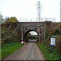 SO7904 : East side of Lower Fields railway bridge by John Grayson