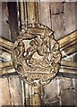 SJ6552 : St Mary, Nantwich - Roof boss by John Salmon