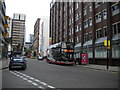 SJ8497 : Buses on Chorlton Street, Manchester by Richard Vince