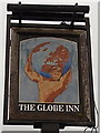 SO8005 : The Globe Inn name sign, Stonehouse by John Grayson