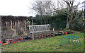 NJ3458 : The Back Garden in Winter by Anne Burgess