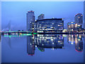 SJ8097 : MediaCityUK and Footbridge by David Dixon