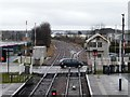 SK5879 : Level crossing at the east end of Worksop station by Christine Johnstone