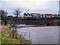 SD7909 : Metrolink Bridge at Warth by David Dixon