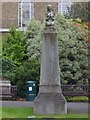 TQ2782 : Praying girl statue, St Johns Wood Church Gardens, Wellington Road NW8 by R Sones
