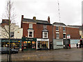 SJ7560 : Shops and closed bank by Stephen Craven