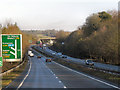 SU4641 : Northbound A34 approaching Bullington Cross by David Dixon