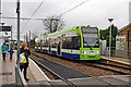TQ3066 : London Tramlink Bombardier tram no. 2536 at Therapia Lane tram stop, Croydon by P L Chadwick