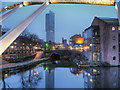 SJ8397 : Evening at Castlefield Basin by David Dixon