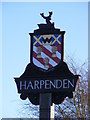 TL1116 : Harpenden Town Sign by Adrian Cable