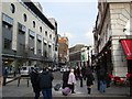 TQ3080 : View up Russell Street from Covent Garden by Robert Lamb