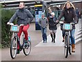 "TQ3280 : ""Boris bikes"" on the Riverside Walk by Oliver Dixon"