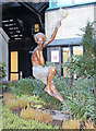 TQ3082 : St Christopher, Chapel Great Ormond St Children's Hospital - Statue by John Salmon