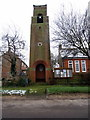 SP8748 : Clock Tower at Filgrave Church of England First School by Philip Jeffrey