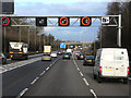 SP1372 : Northbound M42, Junction 3A by David Dixon