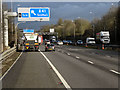 SP1677 : Northbound M42 approaching Solihull by David Dixon
